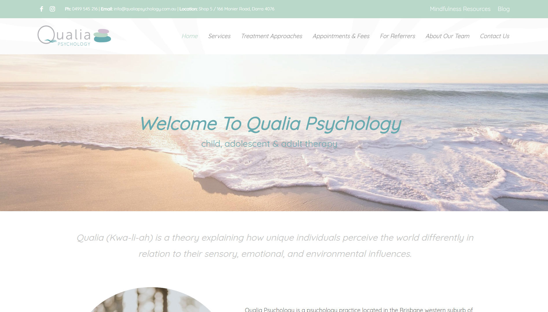 qualia psychology website - primomedia